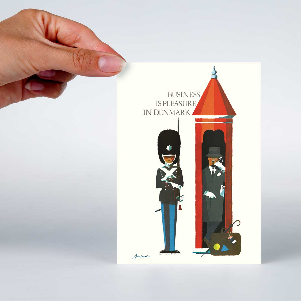 A6 Telephone Box Photo Postcard