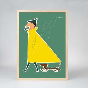 Manden med Regnfrakken (uden tekst)