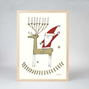 Rudolph med Lysestage
